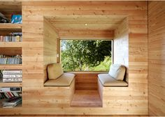 Photos by David Gagnebin-de Bons and Benoit Pointet / DGBI Tagged: Living Room and Light Hardwood Floor. Best Photos from First-Class Cabins. Browse inspirational photos of modern living rooms. Cabin Design, House Design, Mini Loft, Wooden Cabins, Cozy Nook, Cosy, Interior Exterior, Interior Design, Interior Ideas