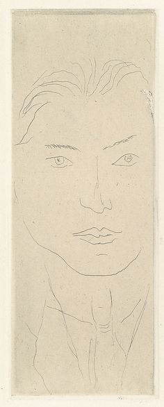 "Henri Matisse ""Olivarès"" 1914 Etching on chine colle"