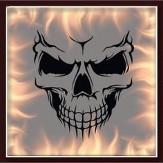 NEW! Skull 325 - $15.00 : Airbrush Stencils Store, Air Brushing Stencils Store Skull Flame Clowns Backgrounds Text Guns Freehand Flag Fantasy Lady Military Large Format Airbrush Stencil Stincil Schablone High Quality
