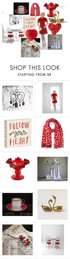 """""""Follow your Heart"""" by gazaboovintage ❤ liked on Polyvore featuring interior, interiors, interior design, home, home decor, interior decorating, Kate Spade, Fenton, Nikko and Parlor"""