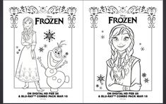 Free Frozen Anna Elsa Olaf Coloring Pages Printables #FreeDisneyColoringPages