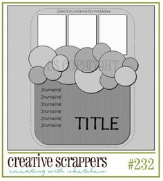 Seaside Scrapper: SKETCH #232 OVER AT CREATIVE SCRAPPERS.  Try with hearts.