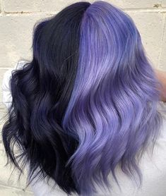 Purple balayage done by Shell at hair 2 dye for in Easton PA Cute Hair Colors, Hair Dye Colors, Cool Hair Color, Split Dyed Hair, Purple Balayage, Bun Hairstyles For Long Hair, Diy Hairstyles, Luscious Hair, Coloured Hair
