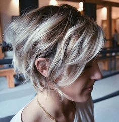 shaggy inverted bob hairstyle