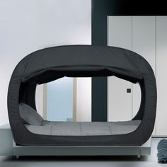 privacy pop bed tent black twin
