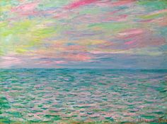 Claude Monet. Sunset at Pourville, Open Sea (1882).