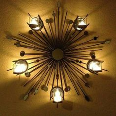 A stunning addition to any wall. Ceiling Fan, Ceiling Lights, Wall Sconces, Fragrance, Chandelier, Candles, Lighting, Home Decor, Amy