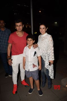 Mumbai: Sonu Nigam, Madhurima Nigam and Nevaan Nigam seen at a restaurant - Social News XYZ Sonu Nigam, Indian Bollywood, Mumbai, Singers, Sons, Restaurant, Couple Photos, Couples, Gallery