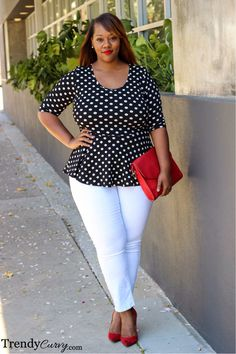 Plus Size Fashion - Polka Dots