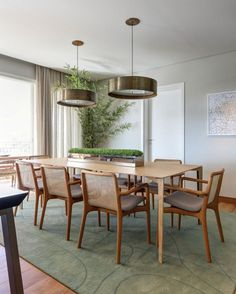 Decor Interior Design, Interior Design Living Room, Modern Interior, Living Room Decor, Interior Decorating, Dining Area, Dining Chairs, Dining Table, Chair Design