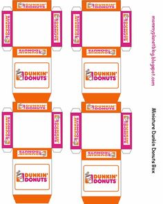 Mommy Planet plan it, save it, share it...: Miniature Dunkin Donuts Box