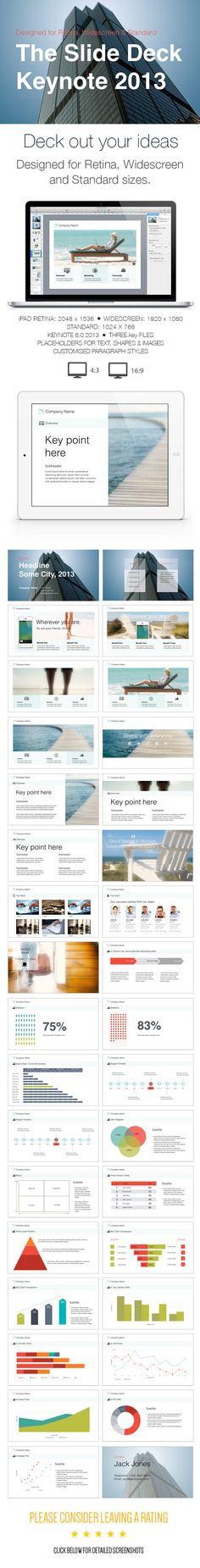 The Slide Deck- A Keynote Template #keynote #keynotetemplate Download: http://graphicriver.net/item/the-slide-deck-a-keynote-template/6082804?ref=ksioks