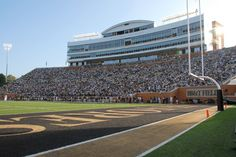 Groves Stadium. Home of the Wake Forest Demon Deacons...I will be on these sidelines bleeding black and gold!!!