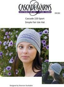 11d72e97896 Simple Fair Isle Hat in Cascade 220 Sport - Discover more Patterns by Cascade  Yarns at LoveKnitting. The world s largest range of knitting supplies - we  ...