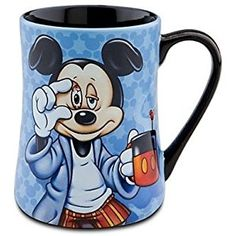 Disney Coffee Mug - Mornings Mickey Mouse,Mickey Mouse''Some Mornings are ROUGH!'' Coffee Mug. Our Mornings Mickey Mouse Mug will jumpstart your day with a laugh! ''Some Mornings are ROUGH!'' written across the back explains why Mickey looks so sleepy. Disney Coffee Mugs, Cute Coffee Mugs, Cool Mugs, I Love Coffee, Tea Mugs, Coffee Cups, Mickey Mouse Mug, Disney Mickey Mouse, Disney Parks