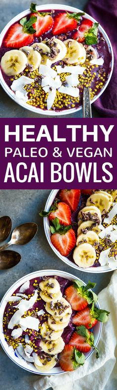 Acai bowl recipe. Ho