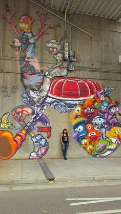 Denver street art (me in the pic)