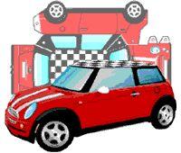 MINI paper car