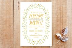 Sweet Berries Print-It-Yourself Wedding Invitations