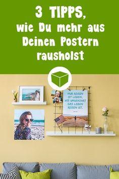 So einfach gestaltest Du Poster von deinen schönsten Fotos originell und einzigartig, ob als geteiltes Bild mit Washitape oder mit Schrift. Hier erfährst Du wie es ganz einfach geht: