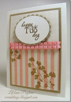 LeAnne Pugliese WeeInklings Paper Players 197 Word Play Papillon Potpourri Wedding Card Stampin Up