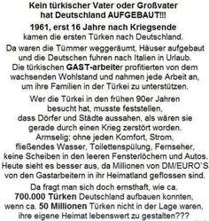 Die Türken-Lüge! Kein türkischer Vater oder Großvater hat Deutschland aufgebaut!!!