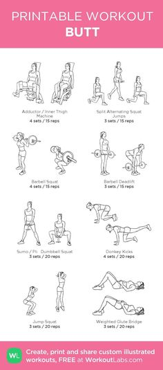 Workout plans to action with pin regimen reference 6316763765 now. Bum Workout, Workout Schedule, Hip Thrust Workout, Workout Plans, Gym Workout Plan For Women, Reps And Sets, Printable Workouts, Gym Routine, Planet Fitness Workout