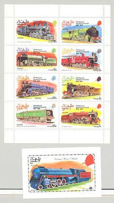 Dhufar Oman Propaganda 1974 Churchill O P Trains 1V M S OF 8 1V S S NH | eBay