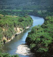 Río Magdalena en Altamira, Huila, COLOMBIA