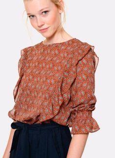 blouse Meisie  volant poitrine