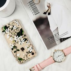 iPhone 6 Case, iPhone Case Protective, MOSNOVO Floral Magnolia Flower Pattern Clear Design Transparent Plastic Hard Back Case with Soft TPU Bumper Protective Cover for Apple iPhone 6 Inch) Cute Iphone 6 Cases, Girl Phone Cases, Iphone Cases For Girls, Iphone 6 Covers, Best Iphone, Apple Iphone 6, Magnolia Flower, Phone Accessories, Women