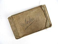 Vintage World War I Era Army Notebook by worldvintage on Etsy