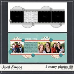 Sweet Shoppe Designs :: Templates & Tools :: Layout Templates :: 2 Many Photos 99 by Janet Phillips Scrapbook Layout Sketches, Scrapbook Titles, Scrapbook Templates, Scrapbook Designs, Scrapbooking Layouts, Scrapbook Cards, Digital Scrapbooking, Friend Scrapbook, Baby Girl Scrapbook
