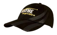 BRUSHED HEAVY COTTON WITH TYRE TRACKS – 4015  Price includes 1 position embroidery   2 Color imprint available for an additional charge  Structured 6 Panel  Low Profile Pre-Curved Peak  Short Touch Strap