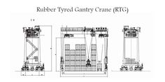 A rubber tyred gantry crane, also known as a RTG crane or transtainer, is a mobile gantry crane used for stacking intermodal cargo containers within the stacking areas of a shipping container terminal.