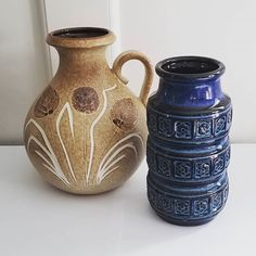 Pottery & China Self-Conscious Bmp Blue Mountain Pottery Canada Long Neck Trumpet Vase