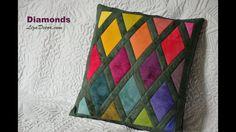Patchwork Diamonds - Diamanty LizaDecor.com #patchwork #vzory #video #diamonds #šablony