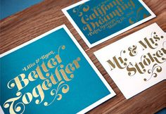 Gold foil wedding invites