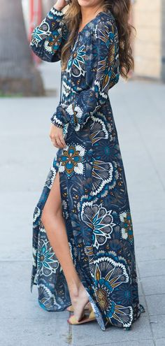 H&M Unusual Maxi Long Sleeve Dress size EUR 40 UK for women over 50 over 50 Women's Fashion Dresses, Boho Fashion, Womens Fashion, Woman Dresses, Fashion Trends, Kaftan, Long Summer Dresses, Long Dresses, Summer Clothes