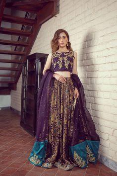 LALEH 15 Spring Festive 2019 by Zonia Anwaar - chambeili Bridal Fancy Dress Design, Bridal Dress Design, Stylish Dress Designs, Stylish Dresses, Fashion Dresses, Shadi Dresses, Pakistani Formal Dresses, Pakistani Dress Design, Fall Dresses