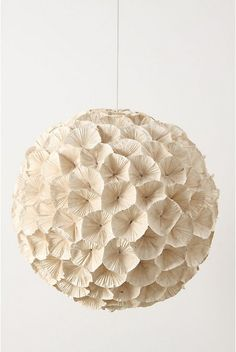 Love this amazing paper light from Anthropologie. www.anthropologie.com