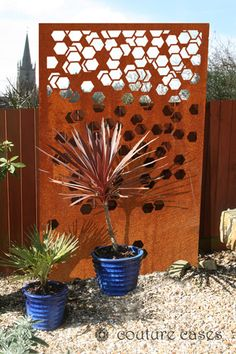 FETE CRUSH corten garden screens and wall panels