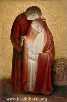 The Holy Family, as painted by a recent Belgian artist. Such a tender portrayal!