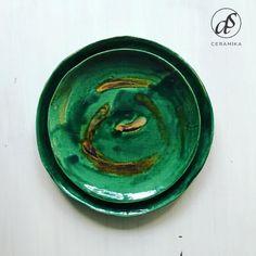 Fancy, Plates, Ceramics, Tableware, Green, Furniture, Licence Plates, Ceramica, Dishes