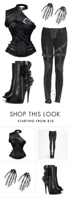 """Steampunk"" by rebelsmarket-0 on Polyvore featuring rebel, allblack, steampunk and rebelsmarket"