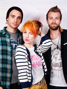 Paramore (Hayley Williams, Taylor York, Jeremy Davis).