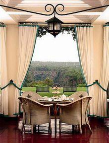 The Victoria Falls Hotel is the 'Grand Dame' of Victoria Falls. Zimbabwe