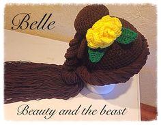 Crochet Beauty and the beast/ Belle wig/Hat by twistnturnscrochet