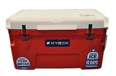Kysek The Ultimate Ice Chest with Wheels 50 Liter WhiteRed Cooler *** Find out more about the great product at the image link.
