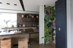 Flox- amazing NZ artist. FOUR LEVEL LIFT SHAFT | Herne Bay Private Residence | Flox.co.nz